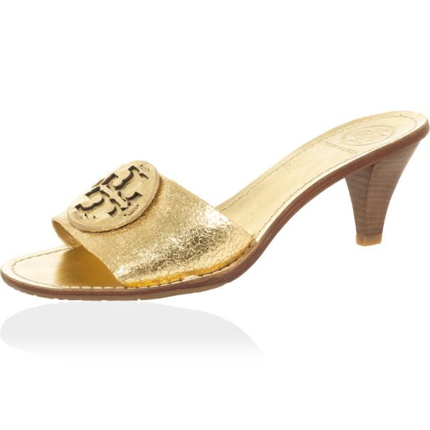 ea42f8ae4d79 ... Tory Burch Gold  Aerin  Slide Sandals Size 38.5. nextprev. prevnext