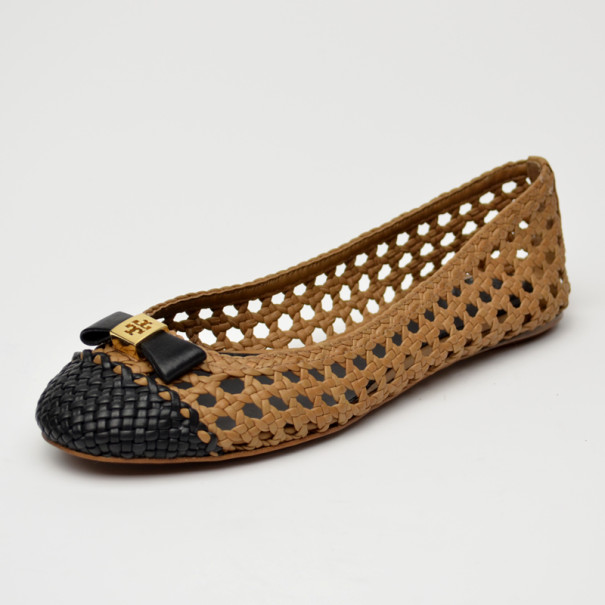 f78f942d2 ... Tory Burch Carlyle Woven Leather Ballerinas Size 38. nextprev. prevnext