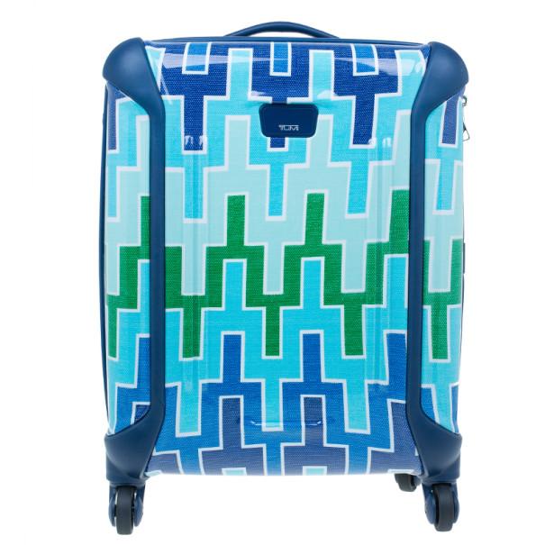 Tumi for Jonathan Adler Blue Printed Trolley