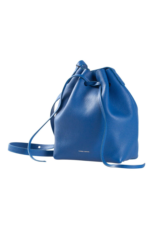 Mansur Gavriel Royal Blue Soft Leather Mini Bucket Bag