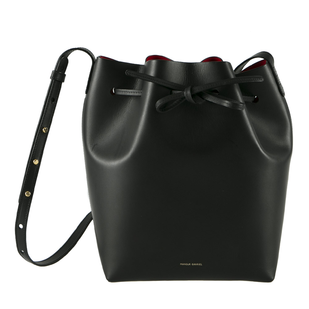b39a50293702 Mansur Gavriel Black Leather Bucket Bag