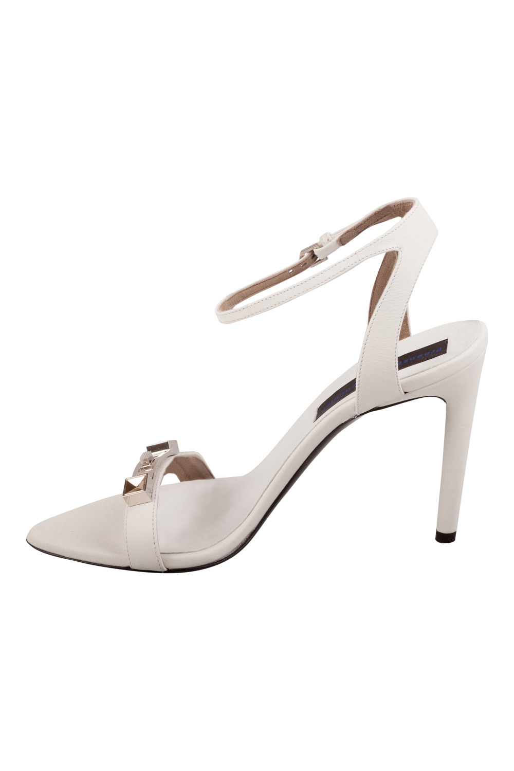 Proenza Schouler White Leather Ps11 Hardware  Ankle Strap Sandals Size 38