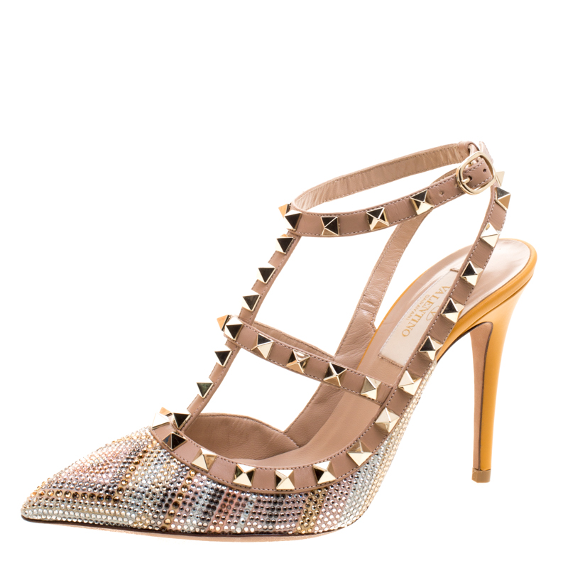 2aead71d5fe Buy Valentino Native Couture 1975 Print Leather Crystal Embellshed ...