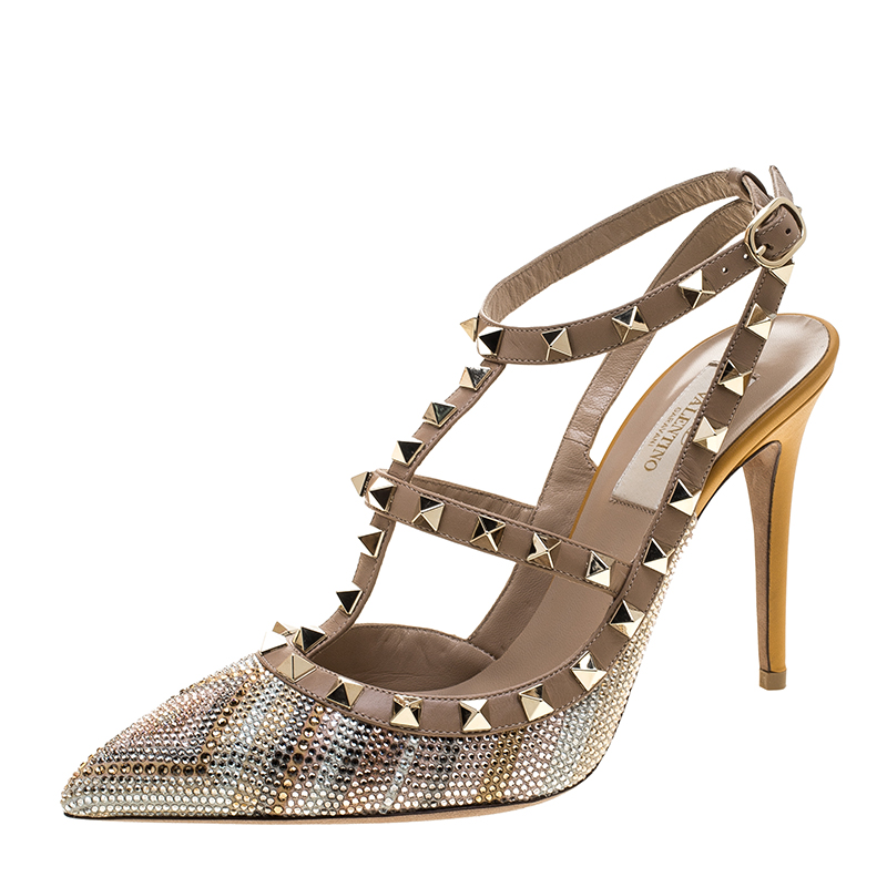 43a8d57a632 Buy Valentino Native Couture 1975 Print Leather Crystal Embellished ...