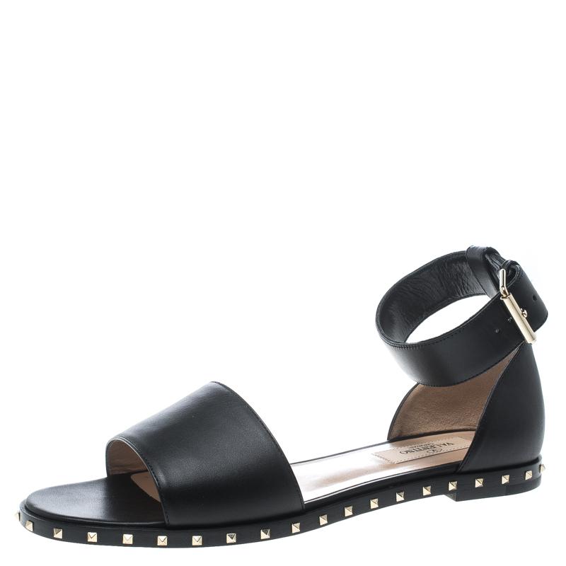 880f0b5ca0c5 ... Leather Soul Rockstud Ankle Strap Flat Sandals Size 37. nextprev.  prevnext