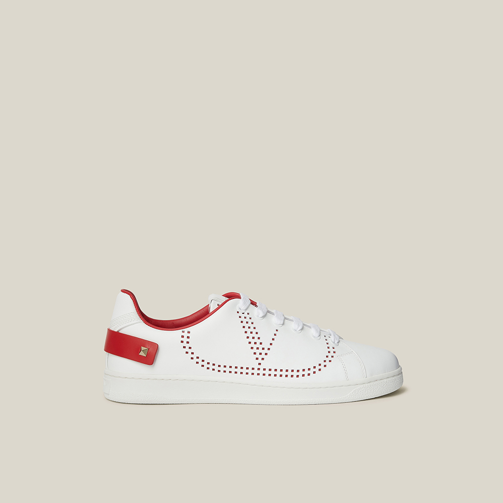 Leather Sneakers Size IT 39 Valentino