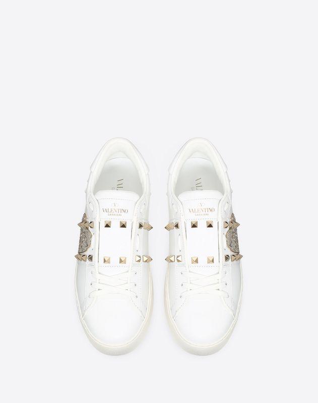 Valentino White Heart Embroidered
