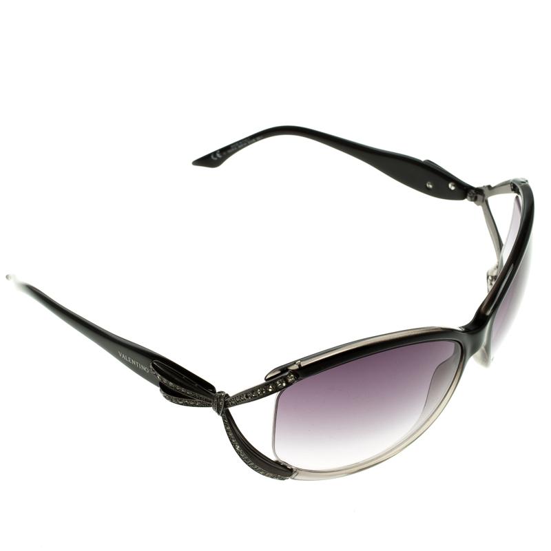 a1f16f76b ... Valentino Grey 5628/S Crystal Embellished Round Sunglasses. nextprev.  prevnext