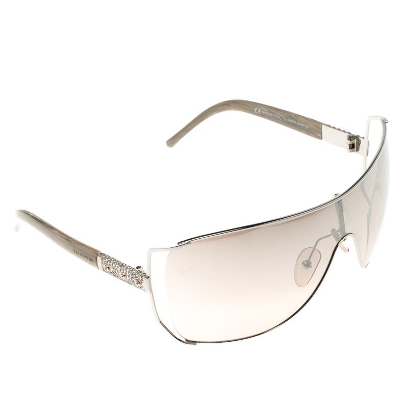 Valentino Brown Gradient 5560/S QIG6H Crystal Shield Sunglasses