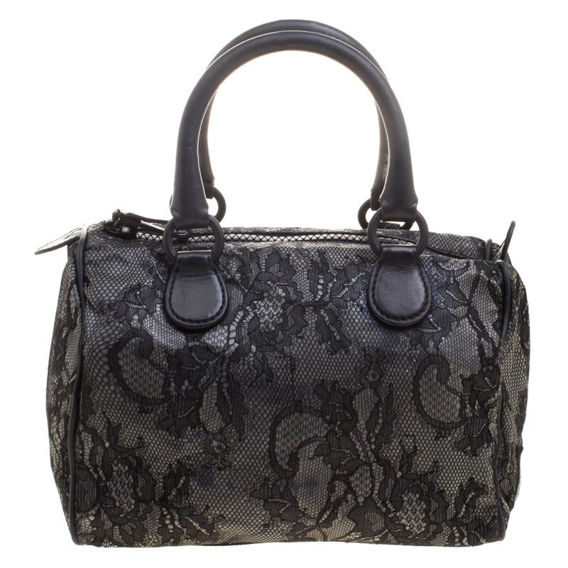 6de81ec760df ... Valentino Black Lace and Leather Small Boston Bag. nextprev. prevnext