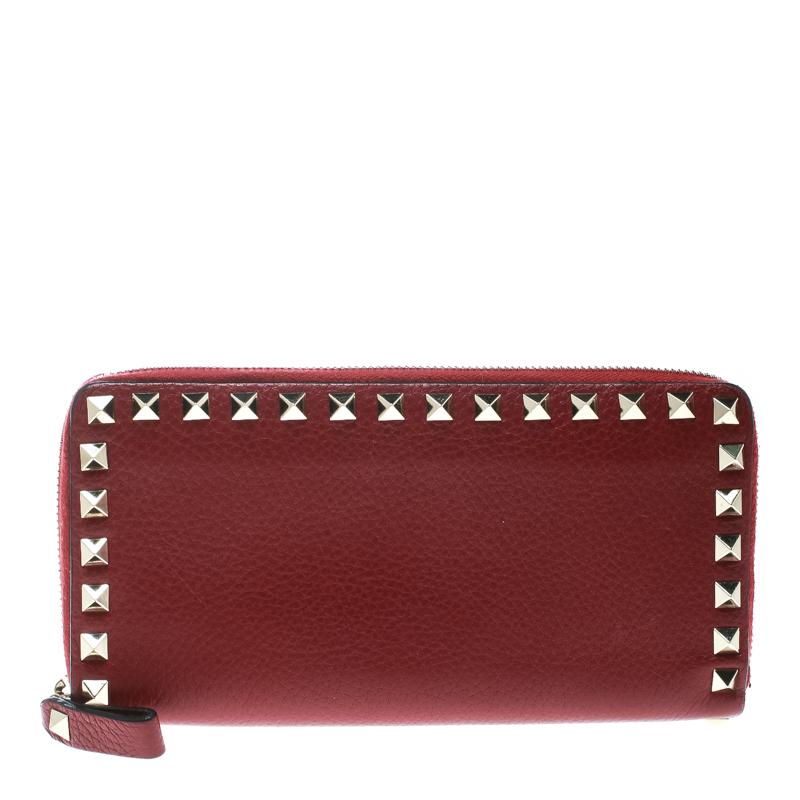 e951384f356 ... Valentino Red Leather Rockstud Zip Around Wallet. nextprev. prevnext