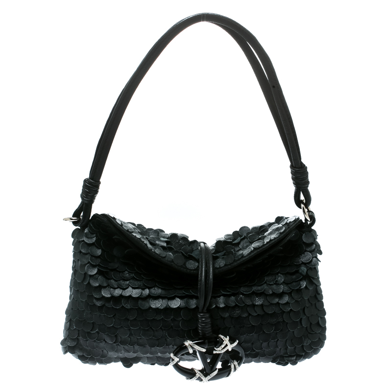 Valentino Black Leather Shoulder Bag