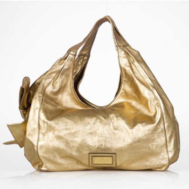 Valentino Nuage Handbag in Gold