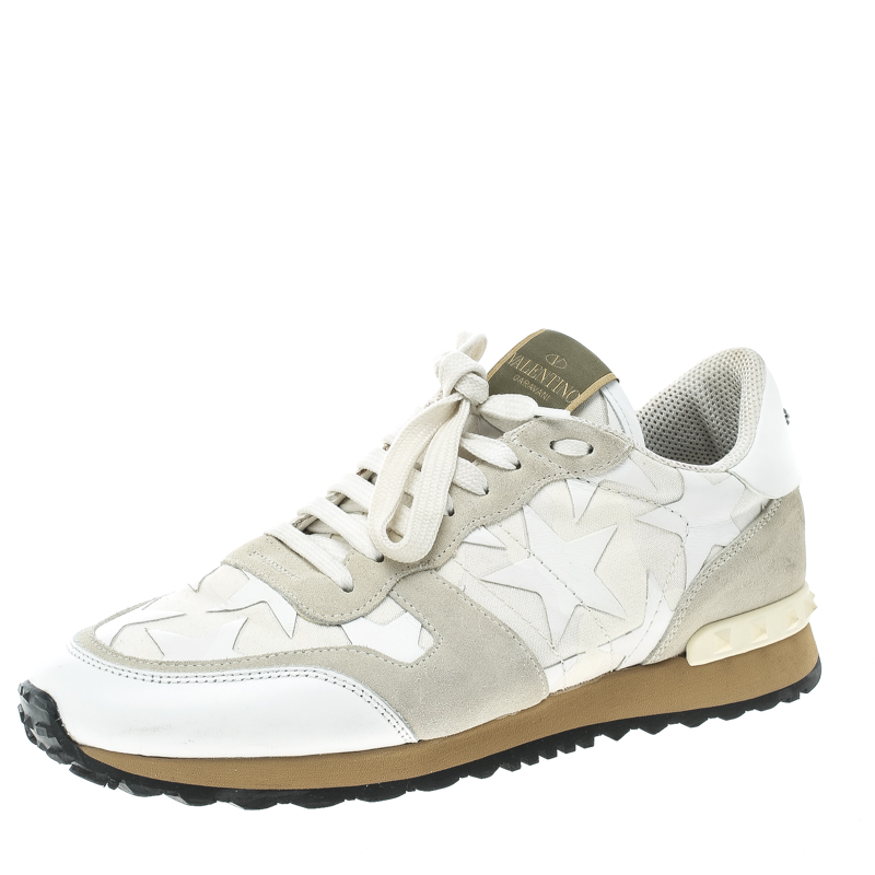 b86cb4779aa8 ... Valentino White Camouflage Canvas and Leather with Suede Star Slip On  Sneakers Size 40.5. nextprev. prevnext