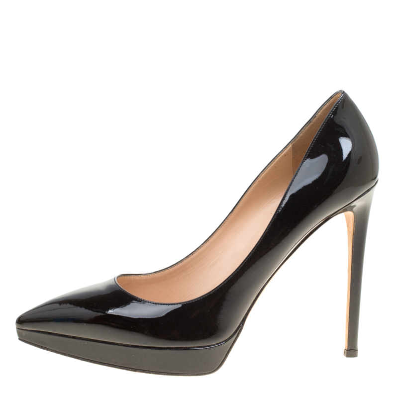 Valentino Black Patent Leather Pointed