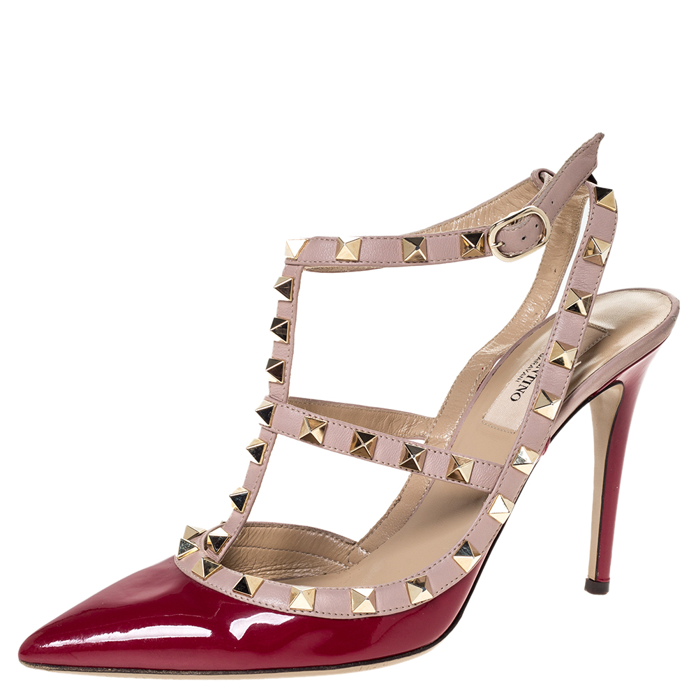 valentino rockstud burgundy