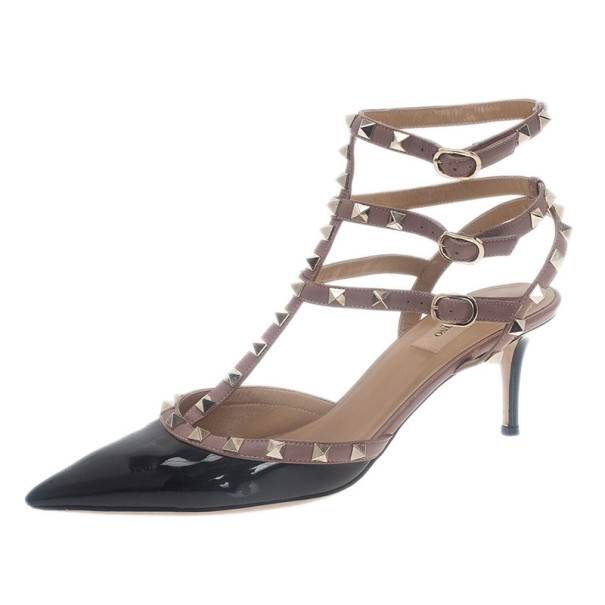 4ba3c5fdd97 ... Valentino Black Patent Leather Rockstud Sandals Size 42. nextprev.  prevnext