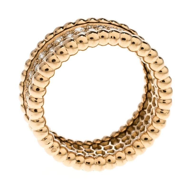 b3bb67194568f Buy Van Cleef   Arpels Perlee Diamond   18k Rose Gold Eternity Band ...