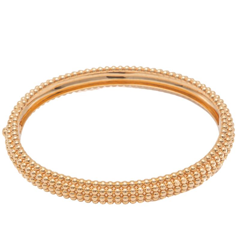 Van Cleef & Arpels Rose Gold Perlee Pearls 5 Rows Bracelet Medium Size