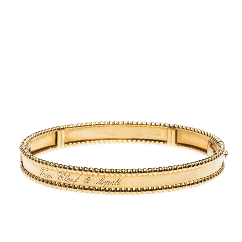 Van Cleef & Arpels Perlee Signature 18K Yellow Gold Bracelet M