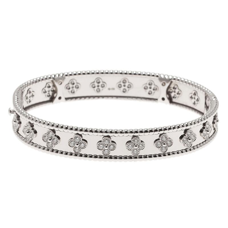 Van Cleef & Arpels Perlée Clover Diamond White Gold Bracelet