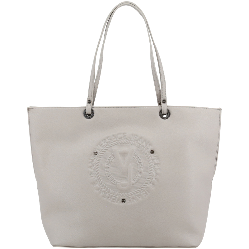 Versace Jeans Grey Faux Leather Shopper Tote