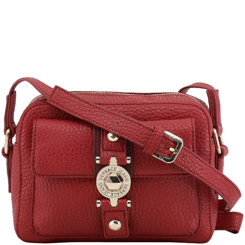 592001469f ... Versace Jeans Red Pebbled Leather Crossbody Bag. nextprev. prevnext
