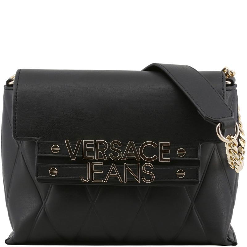 ... Versace Jeans Black Faux Quilted Leather Shoulder Bag. nextprev.  prevnext f0df15f47b01b