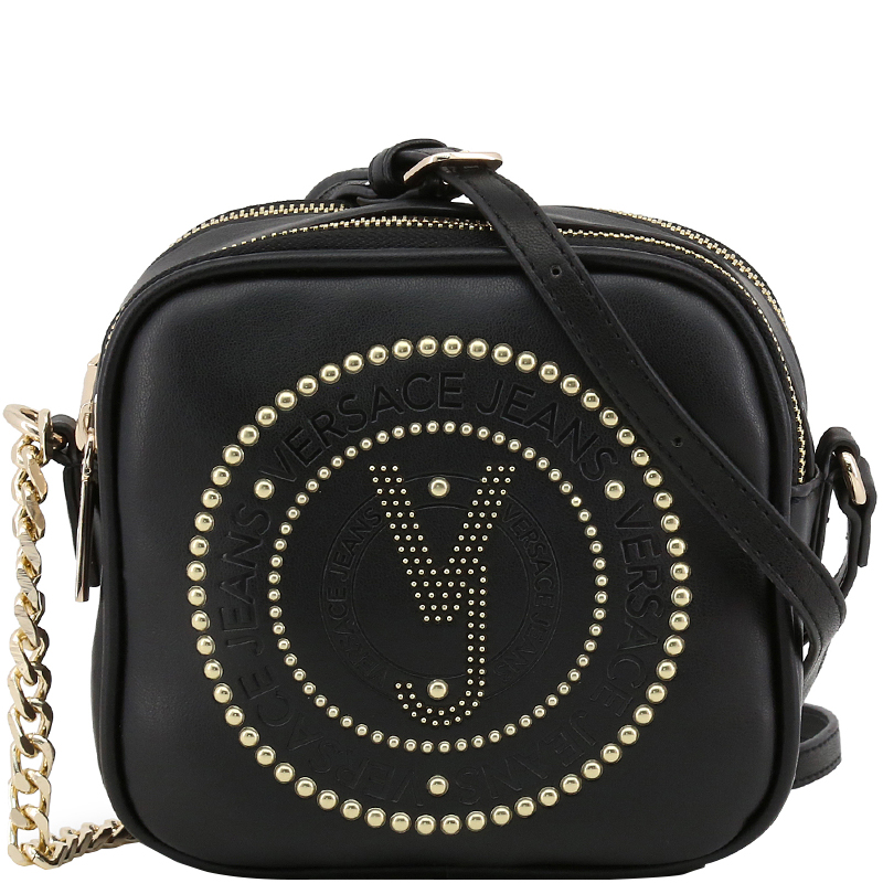 f48f6cefb3e3 Buy Versace Jeans Black Leather Crossbody Bag 162386 at best price
