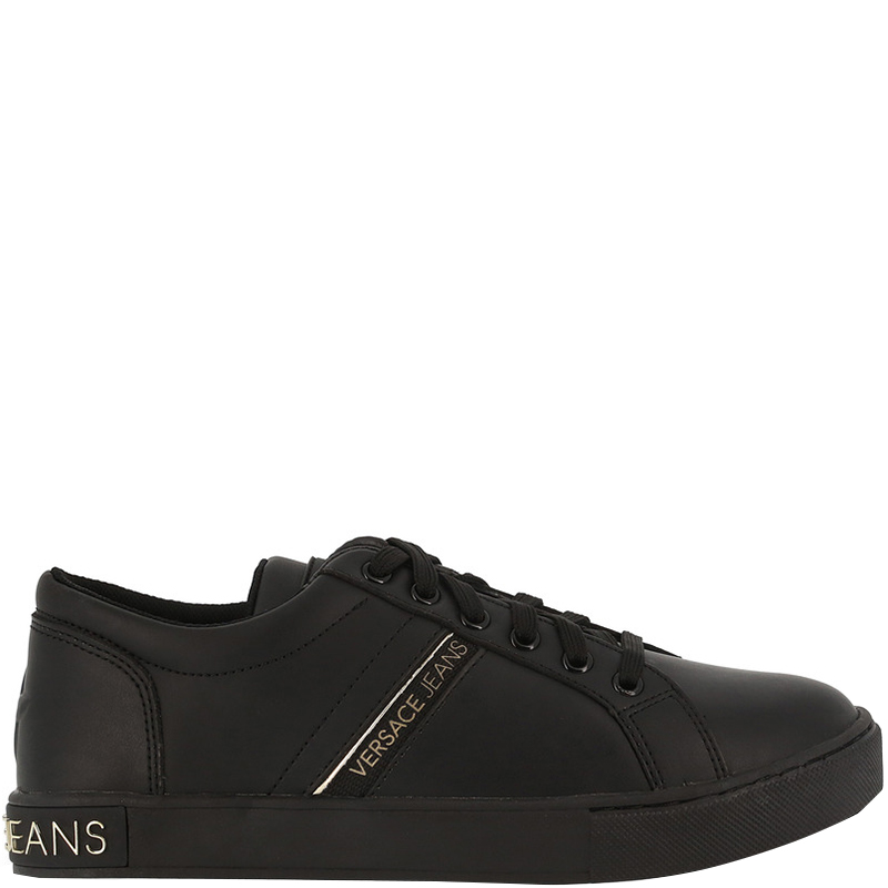 94a9698e6 ... Versace Jeans Black Fabric and Faux Leather Lace Up Sneakers Size 40.  nextprev. prevnext