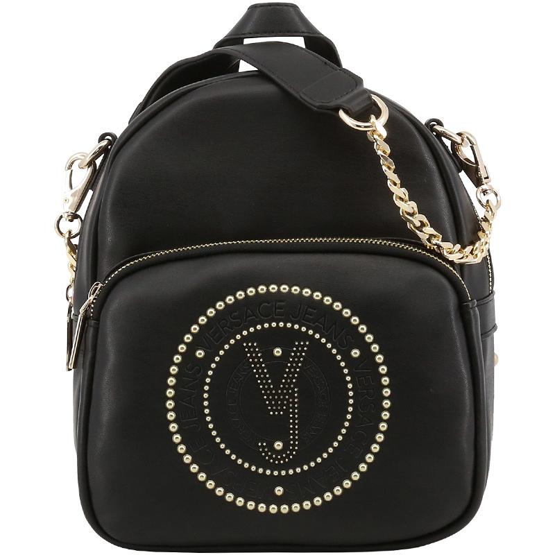 Купить со скидкой Versace Jeans Black Leather Chain Backpack