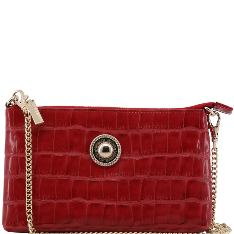aa5ad15f5695 ... Versace Jeans Red Faux Croc Embossed Leather Chain Pochette  Accessories. nextprev. prevnext