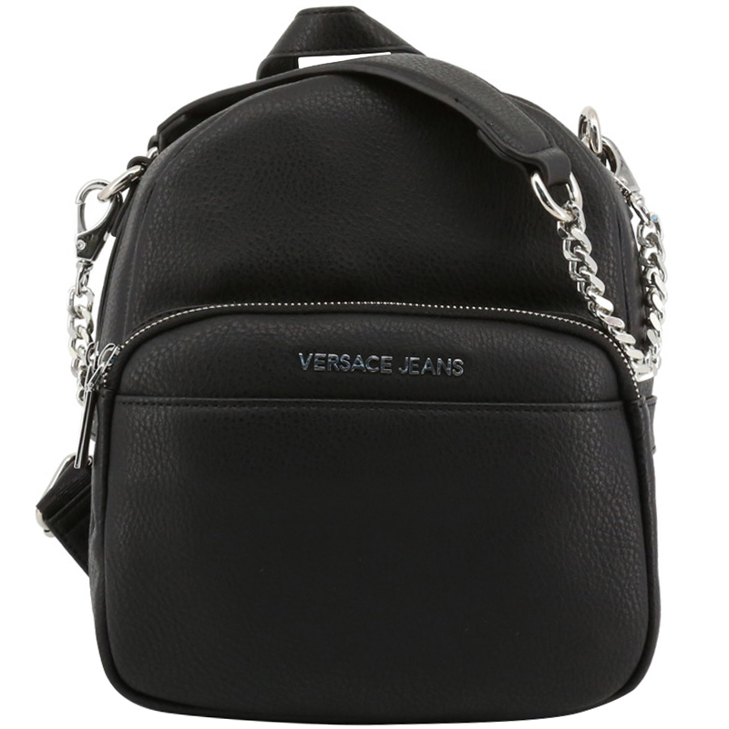 e578e4a183 Buy Versace Jeans Black Faux Pebbled Leather Backpack 161986 at best price