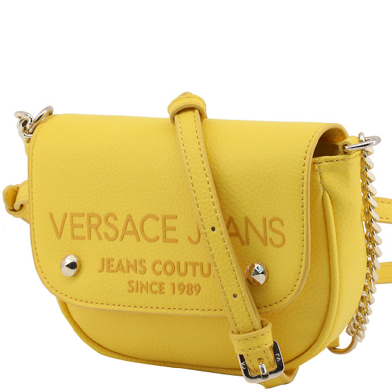 Versace Jeans Yellow Synthetic Leather Crossbody Bag
