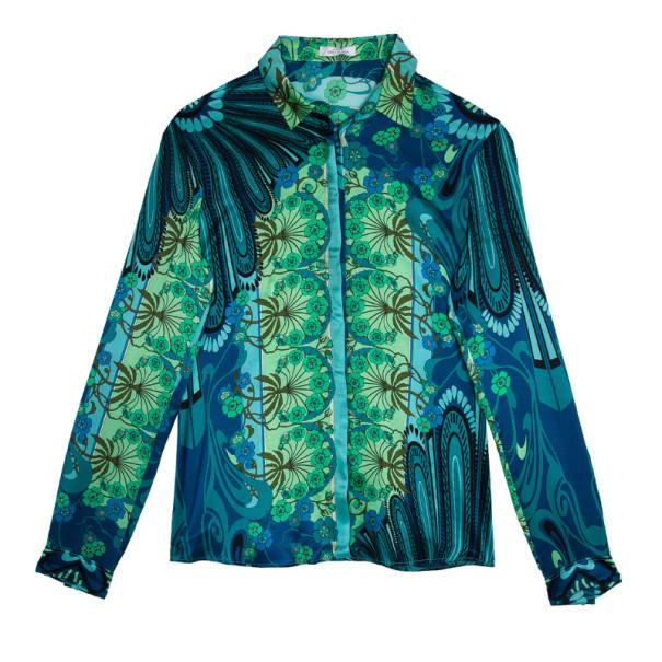 c48b6996c2e20 Buy Versace Multicolor Printed Silk Shirt L 14917 at best price