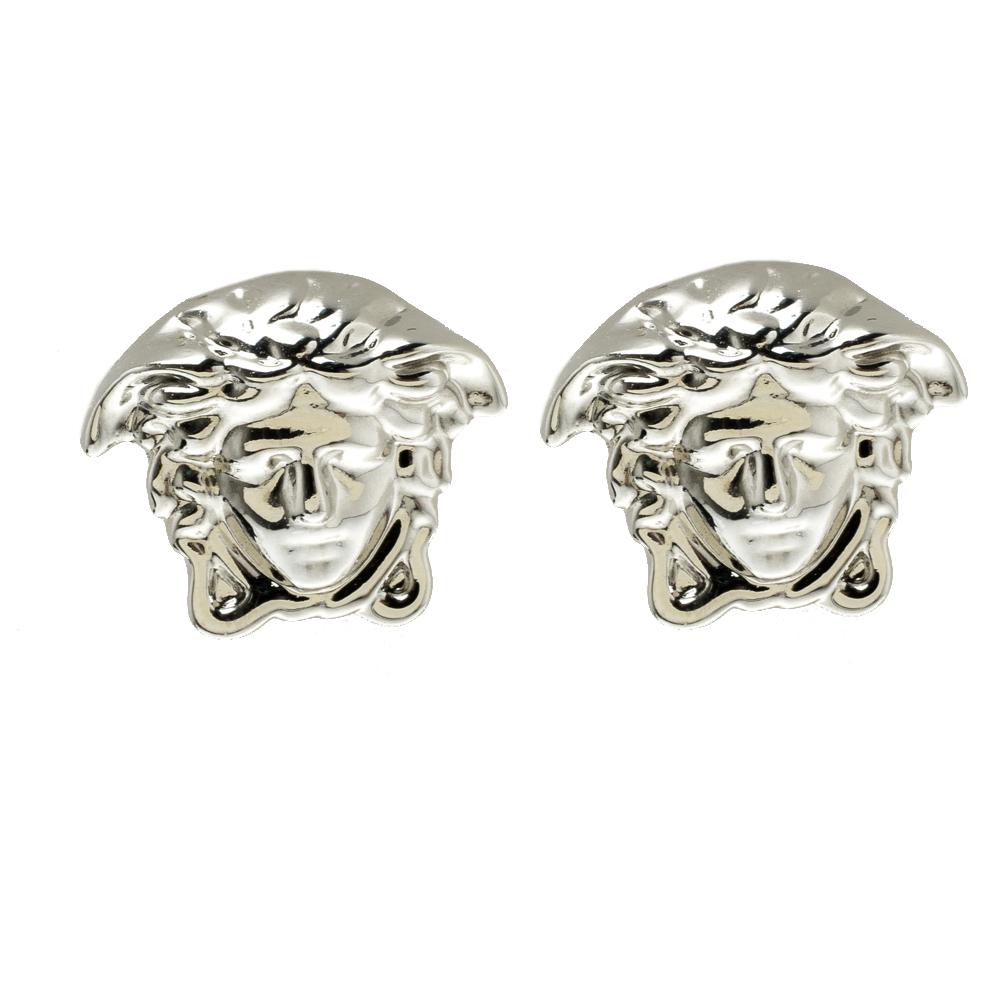 354bb4c3c ... Versace Medusa Head Silver Tone Stud Earrings. nextprev. prevnext