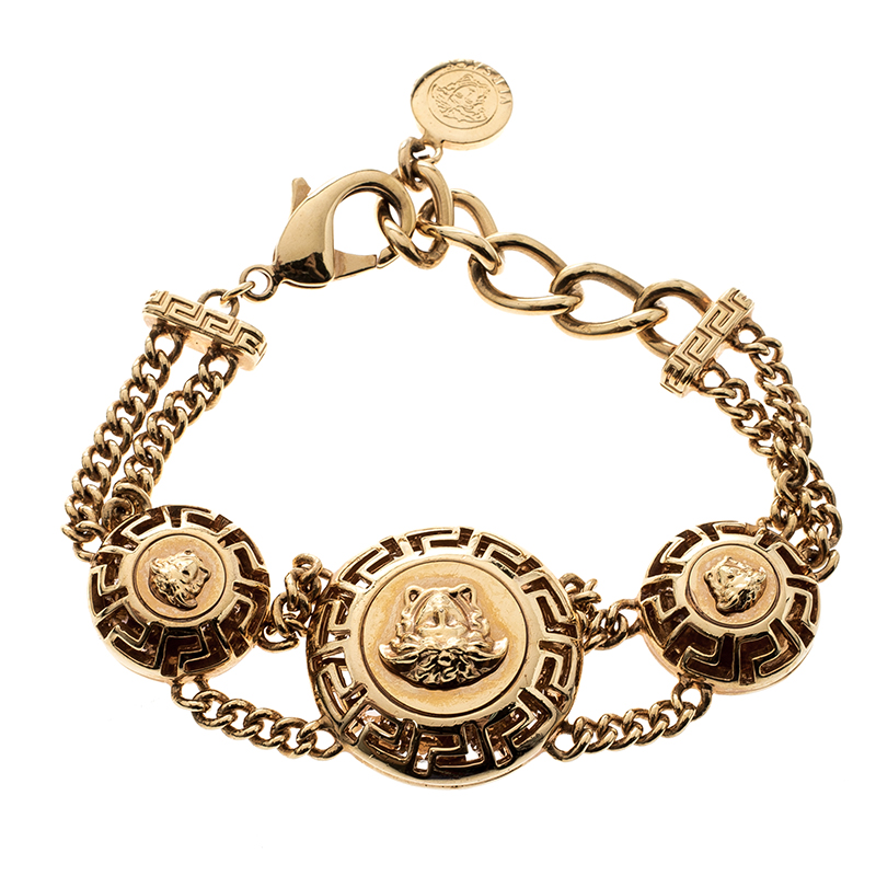 d5602aef7492 Buy Versace Medusa Gold Tone Chain Link Bracelet 142760 at best ...