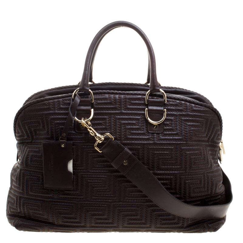 4626c9e130 ... Versace Couture Dark Brown Leather Signature Top Handle Bag. nextprev.  prevnext