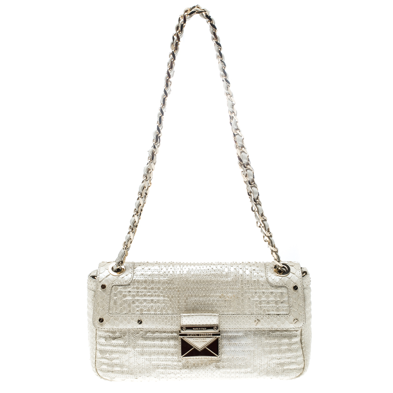 c8648b205c ... Versace White Snakeskin Leather Shoulder Bag. nextprev. prevnext
