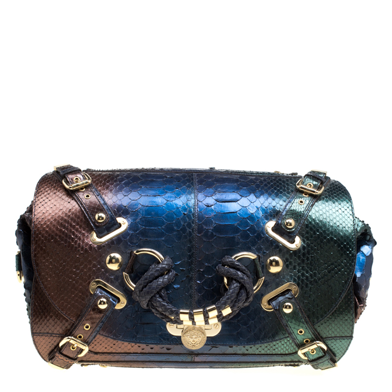 b5067b528e6b Buy Versace Multicolor Ombre Python Canyon Bag 151068 at best price ...
