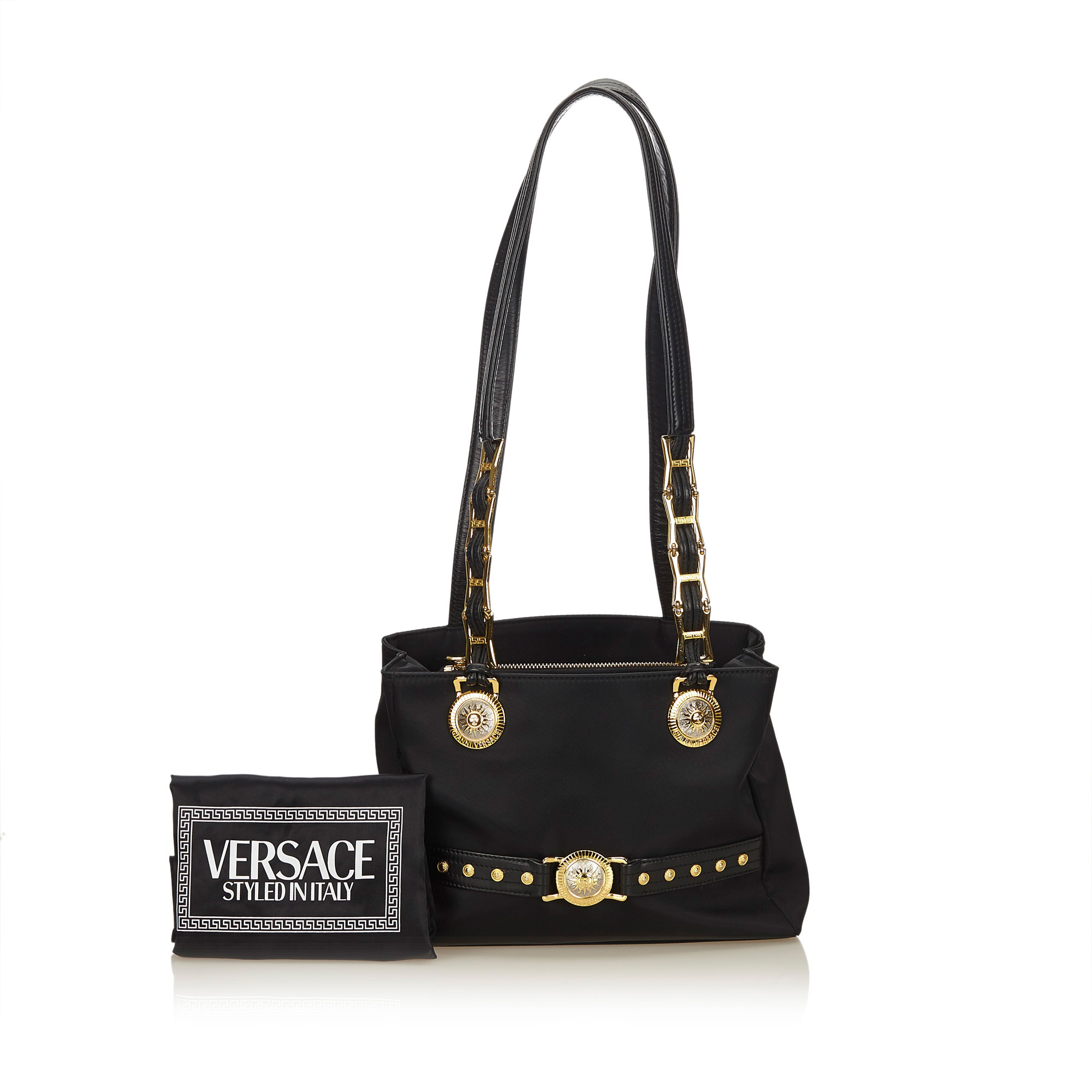 top-rated cheap big selection beauty Versace Black Medusa Nylon Shoulder Bag