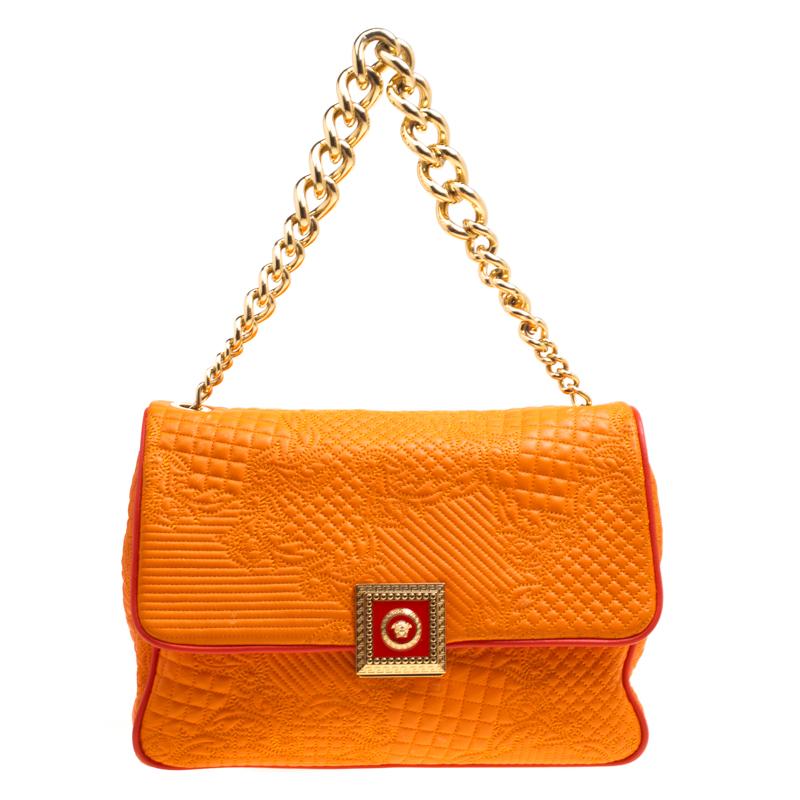 53dd45592faf ... Versace Orange Micro Vanitas Quilted Leather Shoulder Bag. nextprev.  prevnext