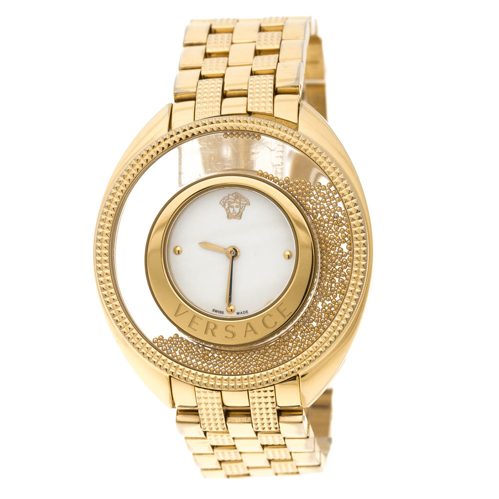 d0c7160081053 Buy Versace Gold Stainless Steel Destiny Spirit 86Q Women s ...