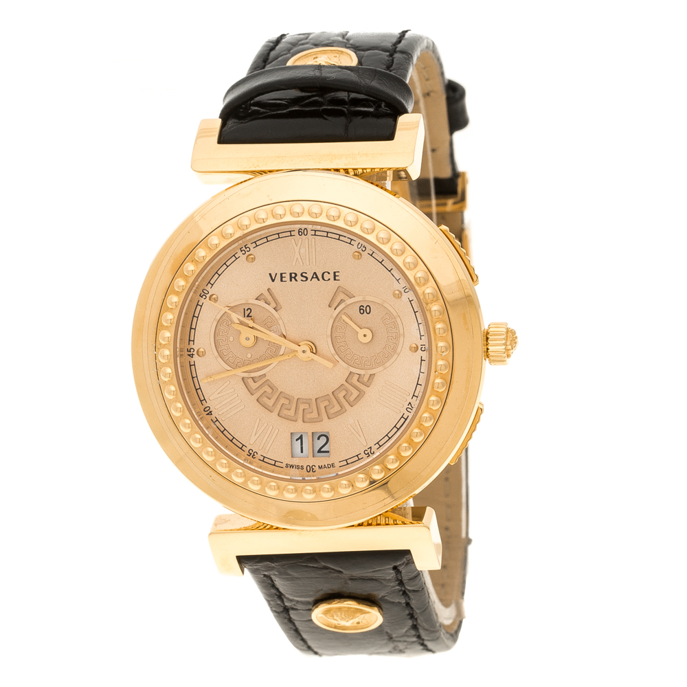 ce8b19d3ee90b Buy Versace Rose Gold Plated Steel A9C Chronograph Women s ...