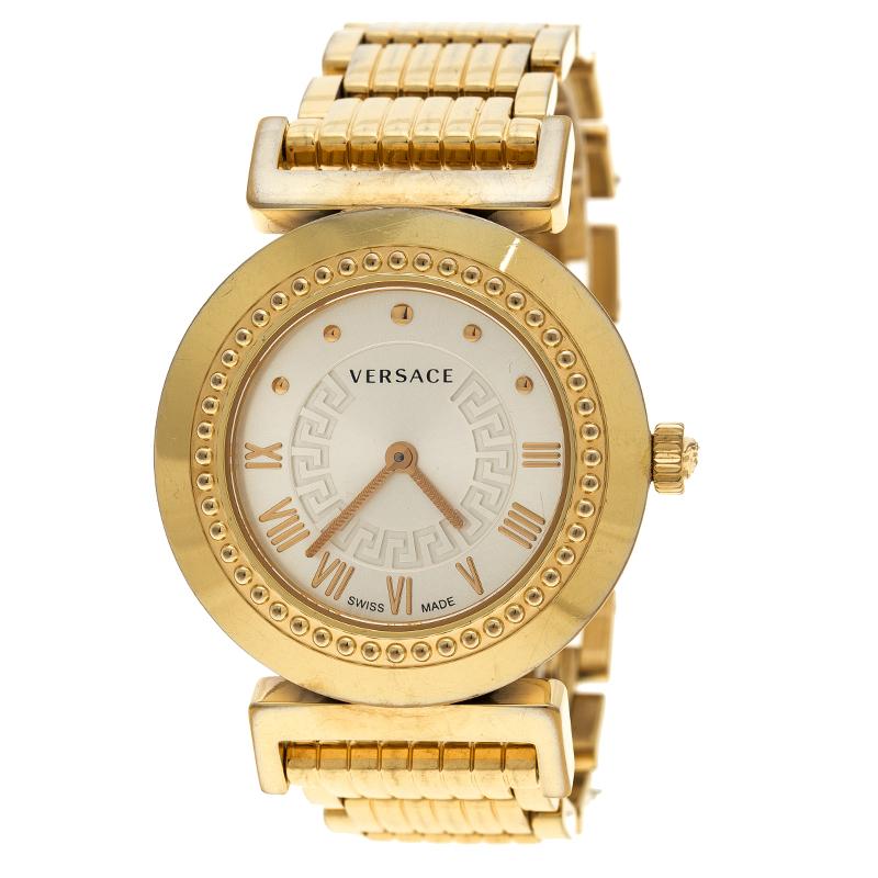 f7963cf280b5 Buy Versace Gold Tone Stainless Steel Vanity P5Q Women's Wristwatch ...