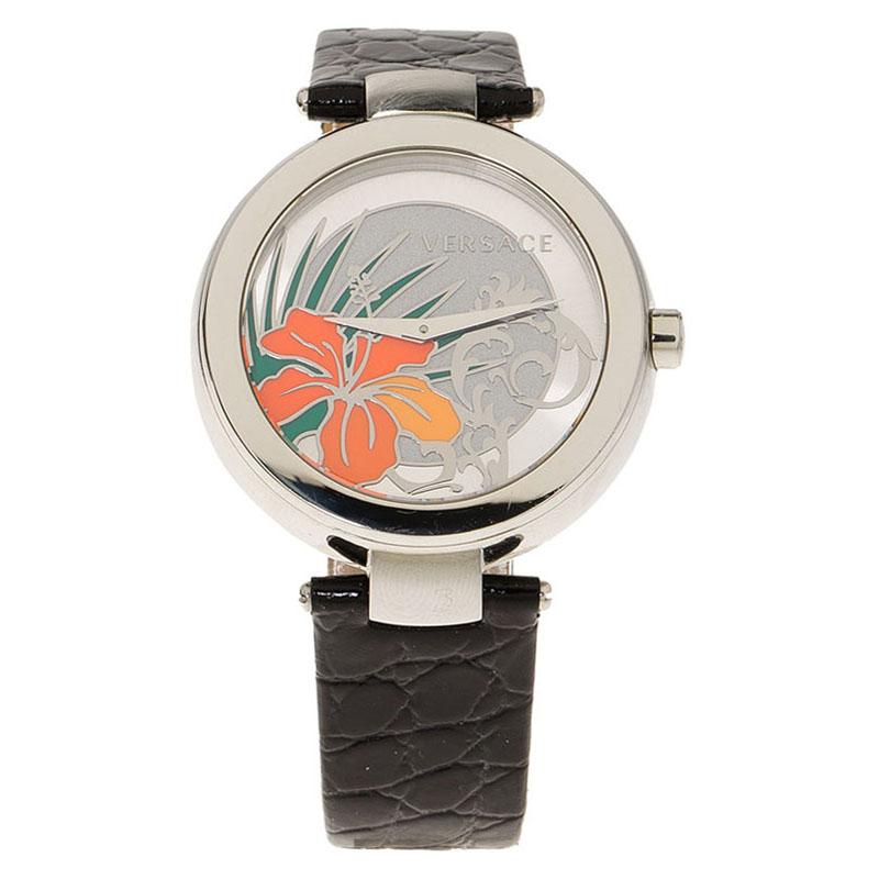 Versace Silver Stainless Steel  Women's Wristwatch 38MM