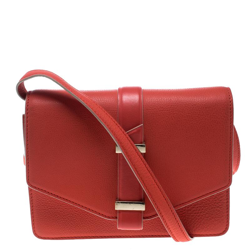 71cef8bb95b6 ... Victoria Beckham Coral Red Leather Mini Crossbody Bag. nextprev.  prevnext