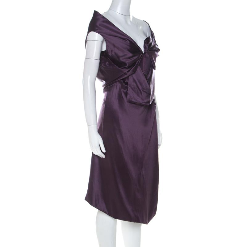 Vivienne Westwood Purple Satin Silk D Corset Bodice Dress M