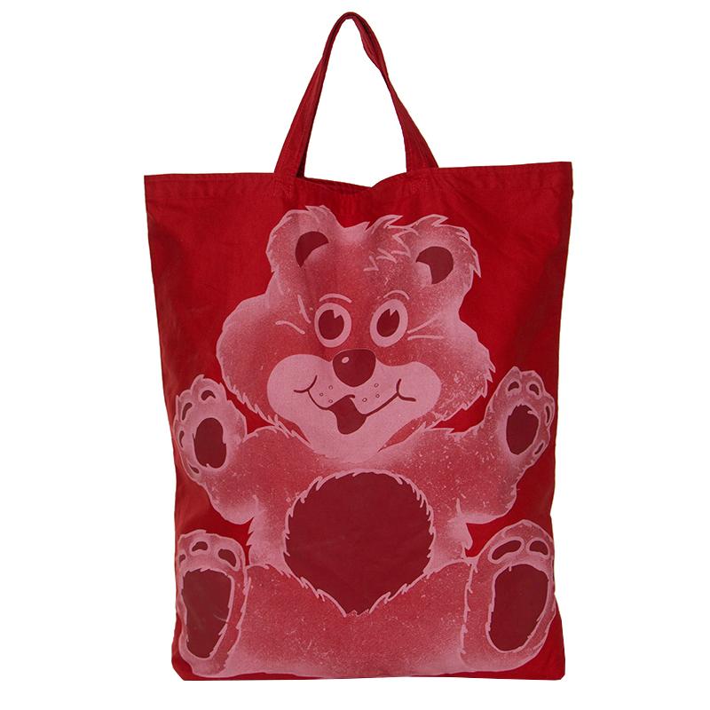 Vivienne Westwood Red Teddy Bear Printed Canvas Tote