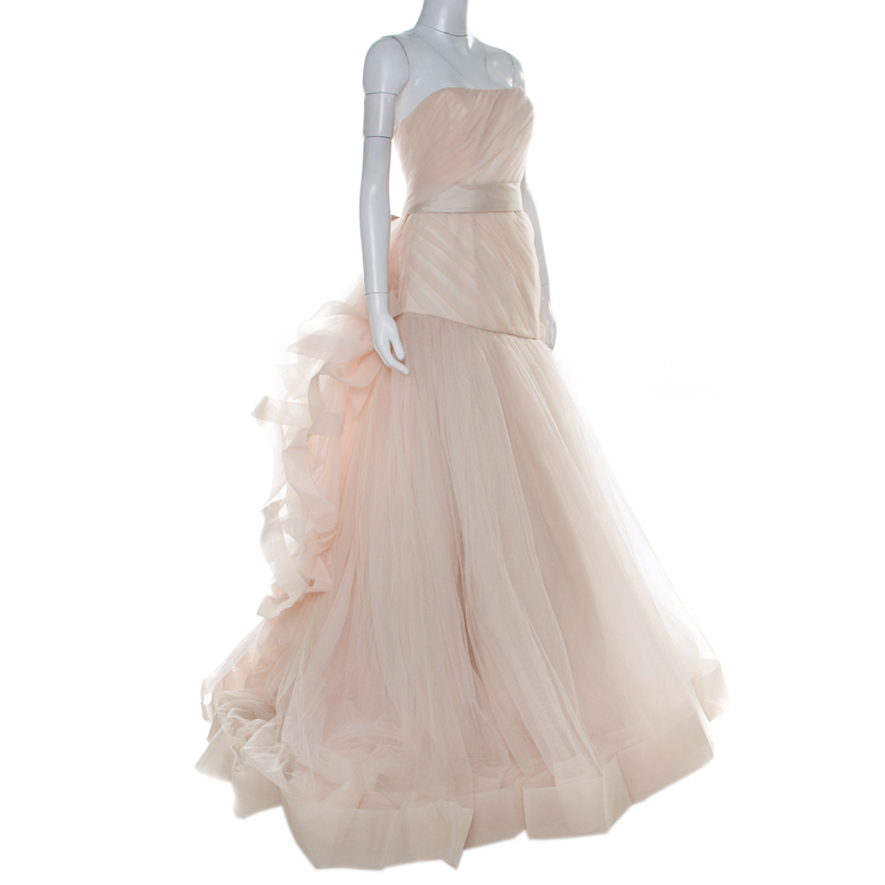 White By Vera Wang Blush And Cream Tulle Wedding Dress S